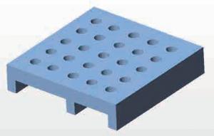 セラミック焼成治具3Dモデル写真