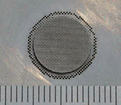 マイクロハニカム成形用金型の写真(1)