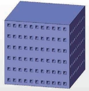 クロスハニカムフィルタのモデル図