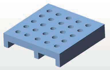 セラミック焼成治具のモデル図