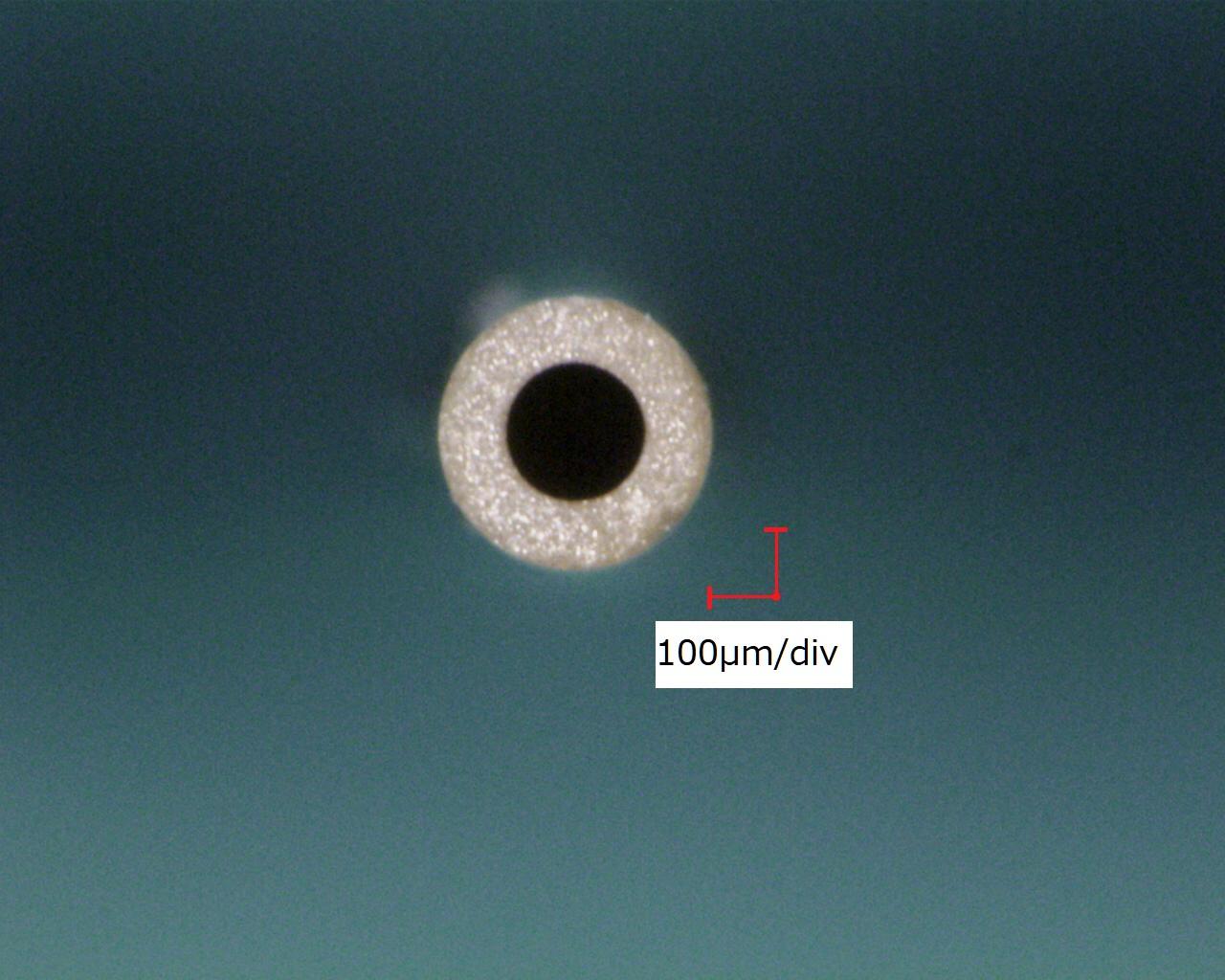 圧電性セラミックチューブのサンプル写真(2)